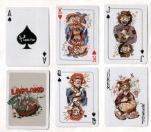 Collectible  playing cards. Lapland, delightful art of drunken